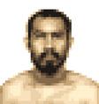 Mosaic blur of asian man face vector image
