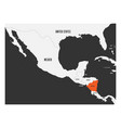 nicaragua orange marked in political map of vector image vector image