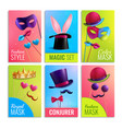 photobooth cards set vector image vector image