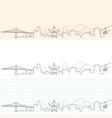 portland hand drawn skyline vector image vector image
