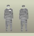 prison uniform vector image vector image