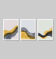 set abstract contemporary aesthetic background