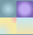 set four abstract backgrounds vector image vector image