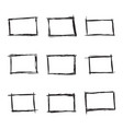 set hand drawn rectangle vector image