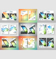 set of brochure templates flyers design vector image