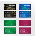 Set of colorful business card with abstract vector image vector image