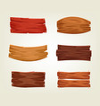 set of colorful wooden boards vector image vector image