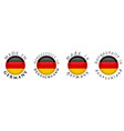 simple made in germany hergestellt in deutschland vector image vector image