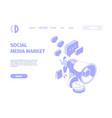 social media landing internet connection business vector image vector image