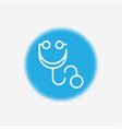 stethoscope icon sign symbol vector image vector image