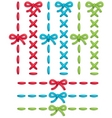 stitch set vector image vector image