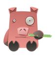 strange pig vector image vector image