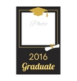 Student 2016 graduation photo frame vector image vector image