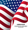 The USA Waving Flag Background vector image vector image