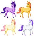 Unicorns vector image vector image