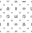 universal icons pattern seamless white background vector image vector image