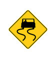 usa traffic road sign slippery when wetuse vector image vector image