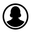 user icon female person symbol profile avatar vector image