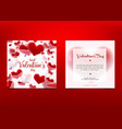 valentine s day many hearts cincept vector image vector image