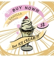 Vanilla Ice-creame with price Popsicle on a white vector image vector image