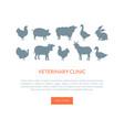 veterinarian clinic landing page template farm vector image vector image