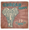 Vintage elephant vector image vector image