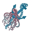 Violet cuttlefish or octopus with wavy arms vector image vector image