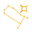 zodiac gemini constellation astrological gradient vector image