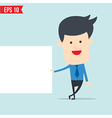 Business man show board vector image