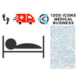 patient sleep icon with 1300 medical business vector image