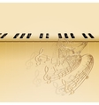 musical background piano keys vector image