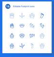 16 footprint icons vector image vector image