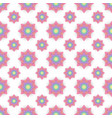 abstract seamless pattern with colored flowers vector image vector image