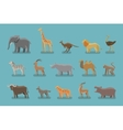 animals set colored icons symbols such vector image vector image