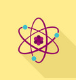 atom icon flat style vector image