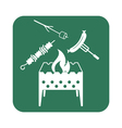 Brazier zephyr kebab and sausage icon vector image