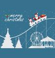 christmas greeting card with christmas santa vector image