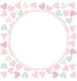 circle frame with stylish hearts vector image vector image