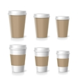 coffee cups set isolated vector image vector image