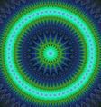 Cold winter star fractal mandala design vector image vector image