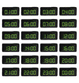 digital clock with green numbers vector image
