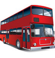double-decker bus vector image vector image