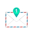Envelope with one messages flat icon vector image
