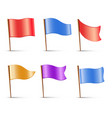 flags set of multi colored pins vector image vector image
