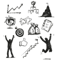Freehand sketch of success symbols vector image