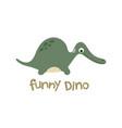 funny dino cute dinosaur vector image