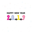 handshake sign and happy new year 2019 vector image vector image