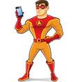 Handsome Superhero Gadget vector image vector image