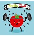 healthy diet vector image vector image
