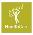 Healthy people logo medical logo design concept